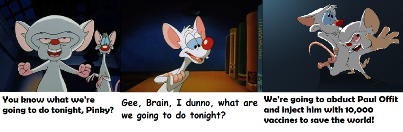 Vax pinky and the brain