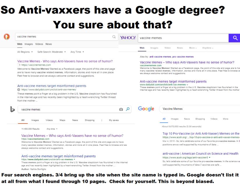 Vax Google degree